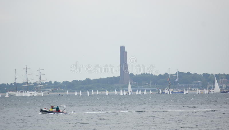 Event-Kiel Week - Boat Race - Kiel - Germany - Baltic Sea stock images