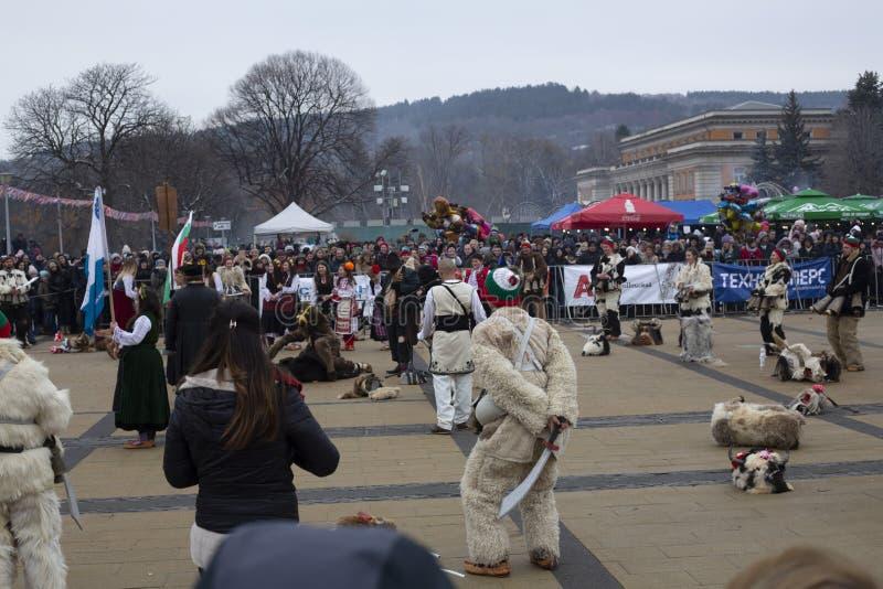 2019 International Festival of Masquerade Games `Surva` stock photos