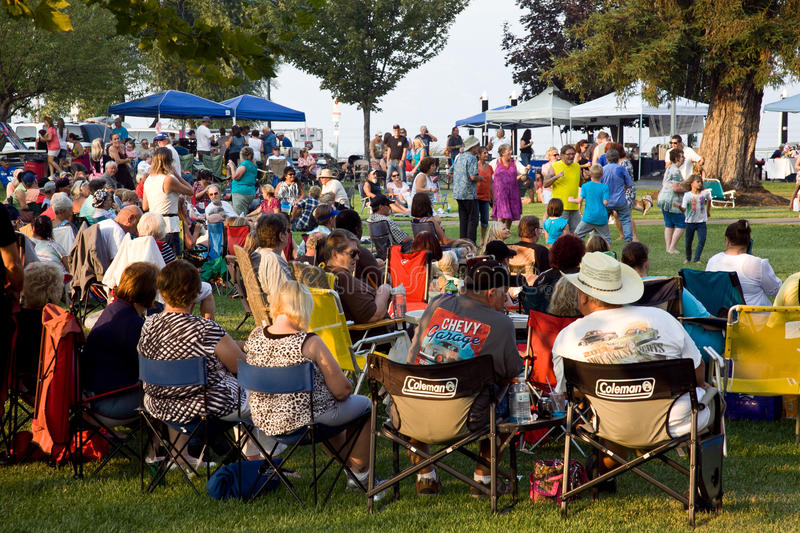 Event at Library Park Lakeport California royalty free stock photo