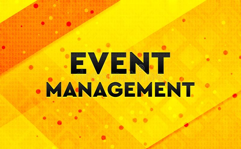 Event Management abstract digital banner yellow background royalty free illustration