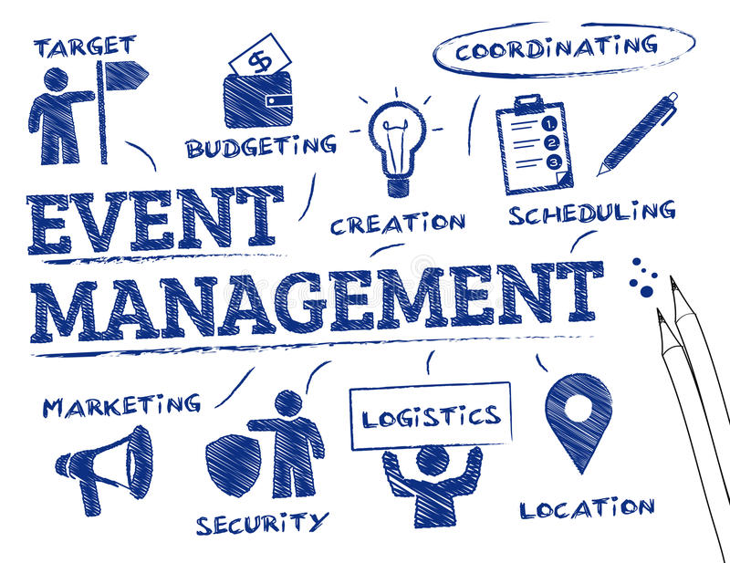 Event management concept royalty free illustration