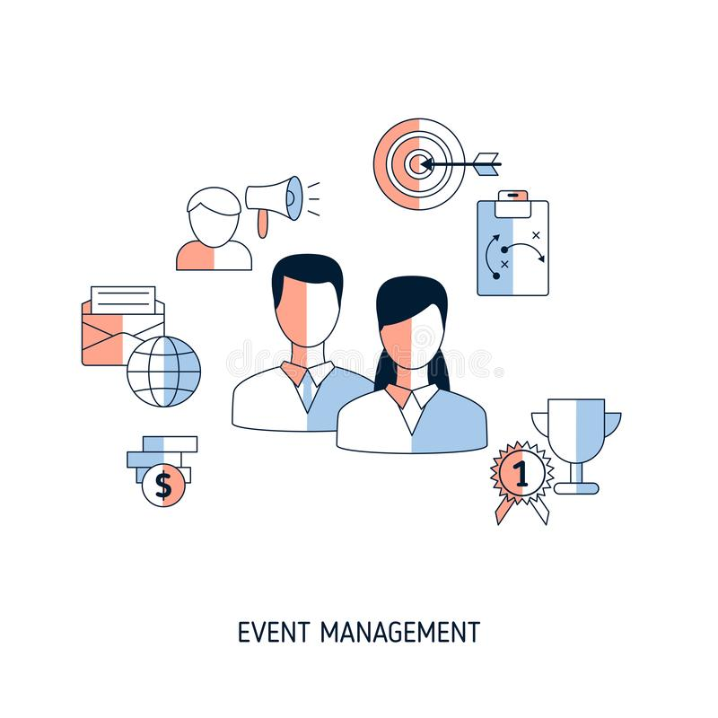 Event management concept vector illustration