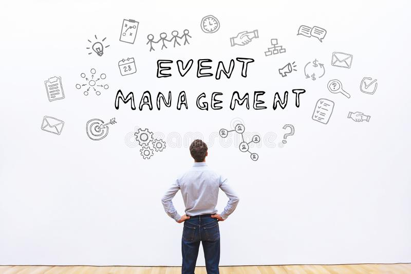 Event management concept. On white background stock image