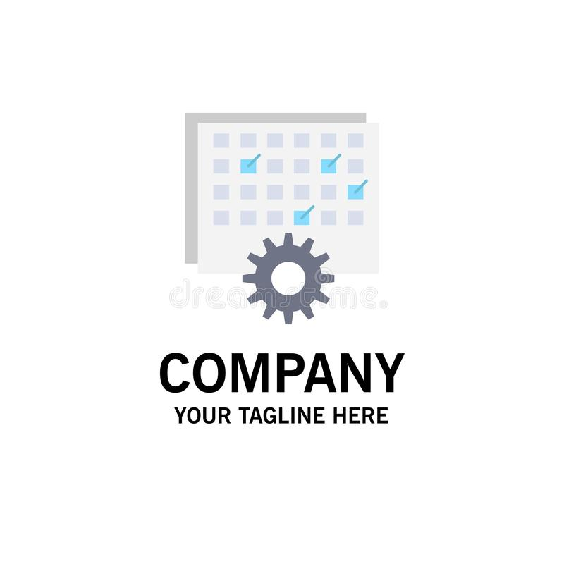 Event, management, processing, schedule, timing Flat Color Icon Vector royalty free illustration
