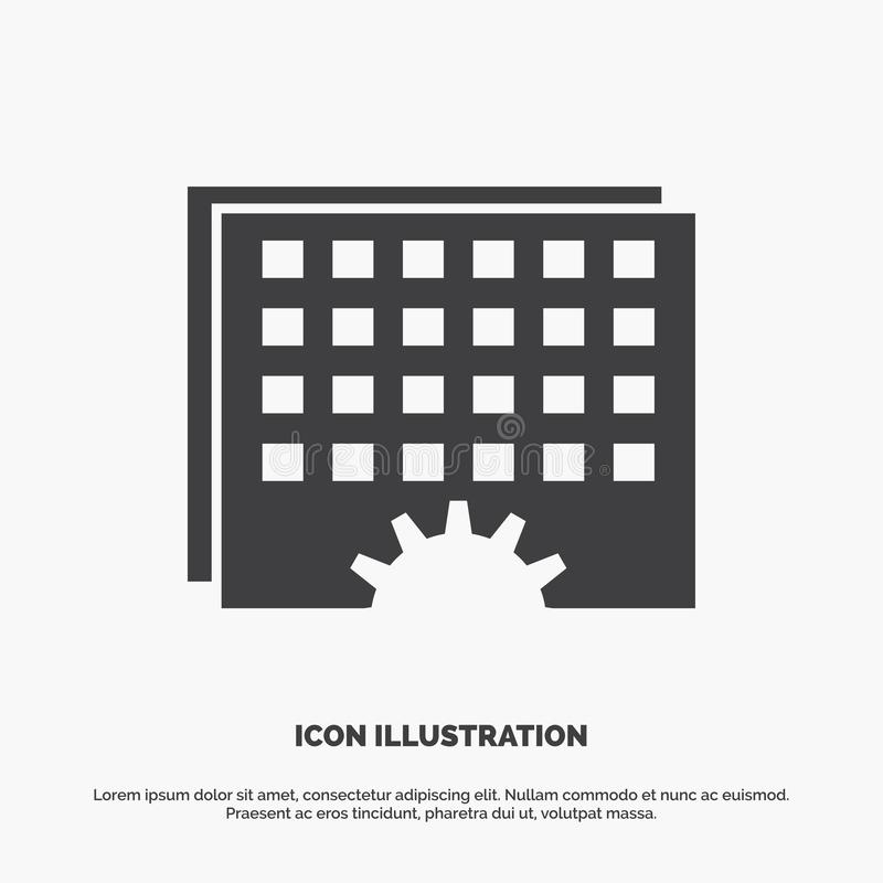 Event, management, processing, schedule, timing Icon. glyph vector gray symbol for UI and UX, website or mobile application. Vector EPS10 Abstract Template royalty free illustration