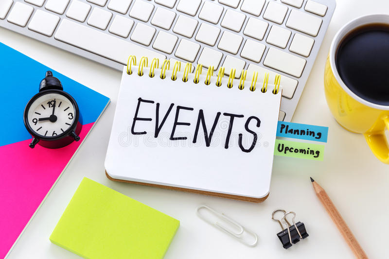Event planning concept stock image