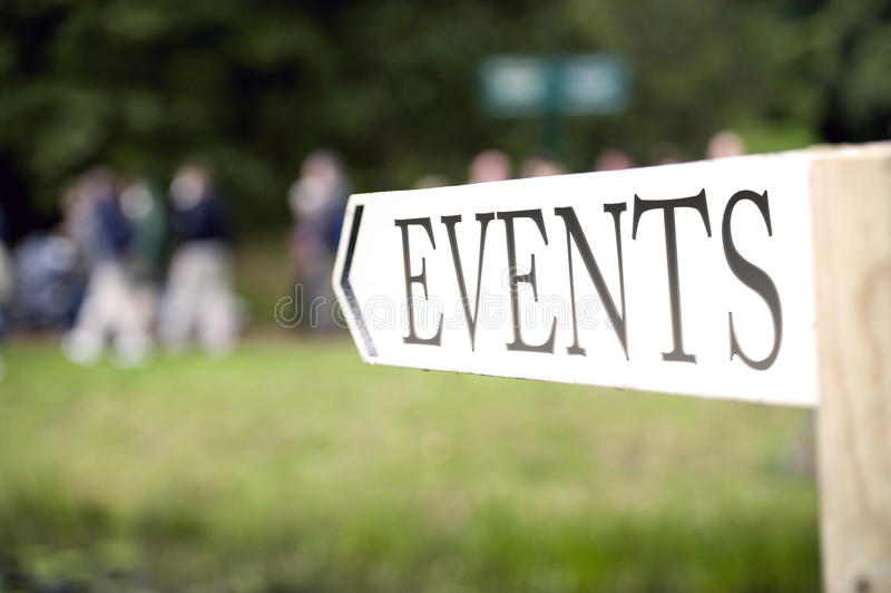 Event Sign Stock Photography