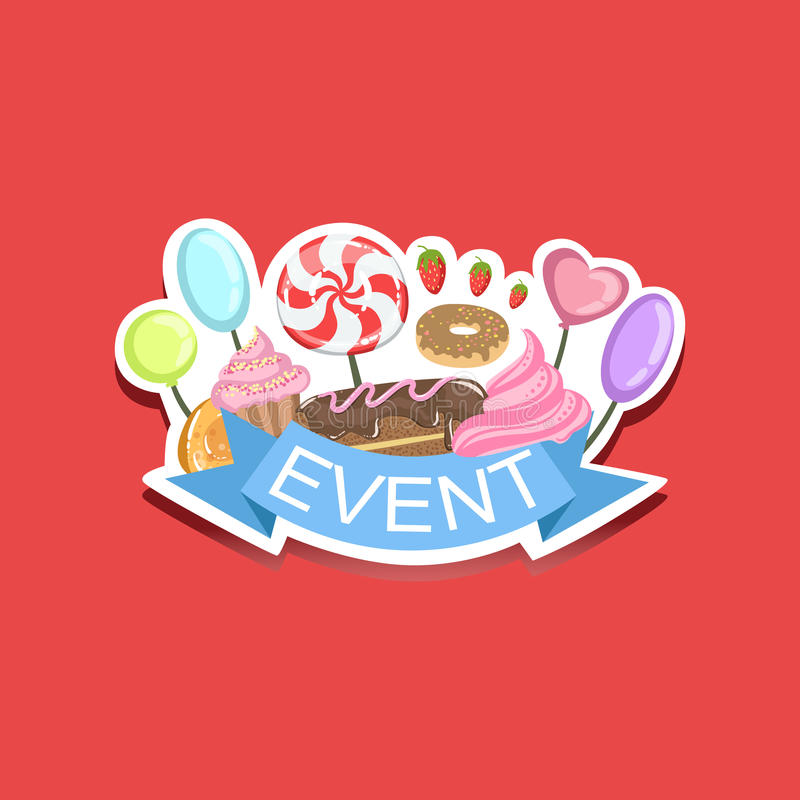Download event template label cute sticker with sweets stock illustration illustration of poster lollypop