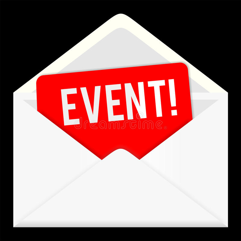 Event. web icon, email communication royalty free illustration