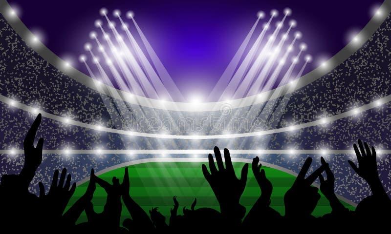 Download Eventi, Riflettori E Fan Dello Stadio Modello Per Le Insegne Illustrazione Di Vettore Illustrazione Vettoriale - Illustrazione di attività, internazionale: 117978753
