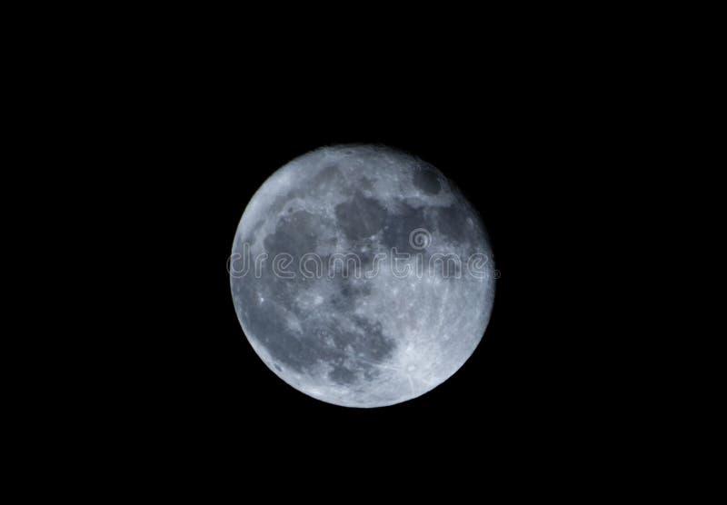 Evento astronomico della luna eccellente, novembre 2016, la Romania immagine stock libera da diritti