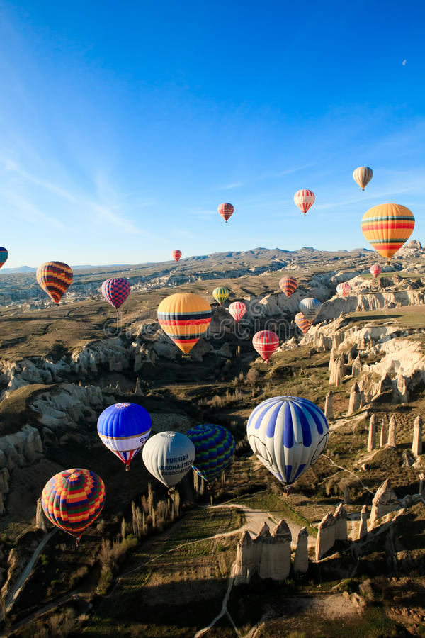 Evento ballooning dell'aria calda fotografia stock libera da diritti