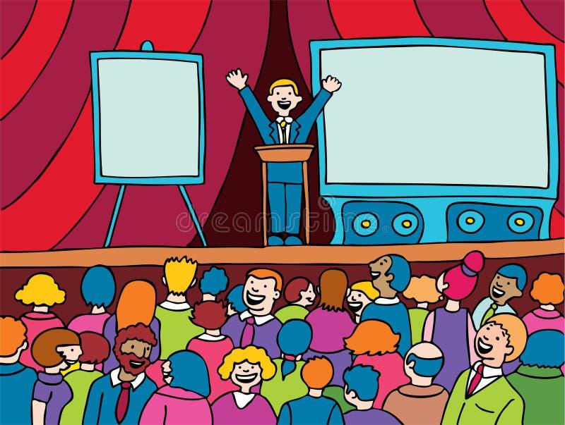 Evento da convenção ilustração stock