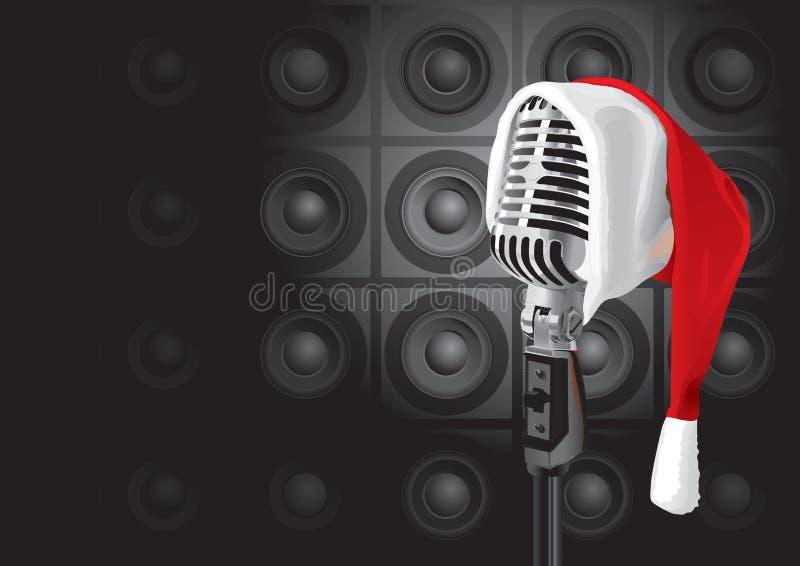 Evento da música do Natal (vetor) ilustração royalty free