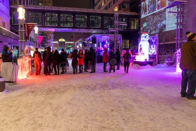 Evento de SocialICE em Rochester Minnesota foto de stock