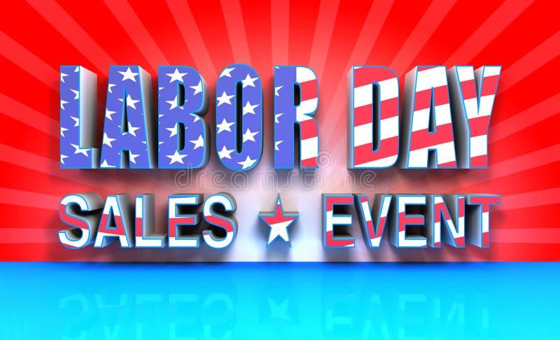 Evento de ventas del Día del Trabajo stock de ilustración