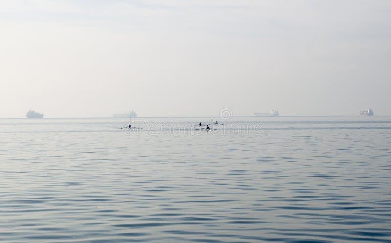 Evento de virada da frente aquática de Salónica na Grécia fotos de stock