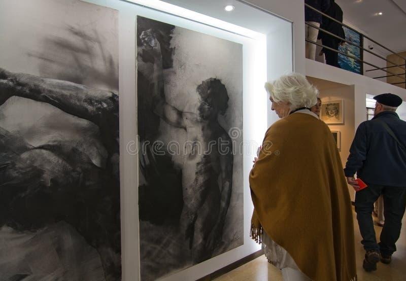 Evento del brunch del arte de Palma imagen de archivo