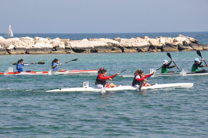 Evento della barca di fila a Bari, Italia fotografia stock