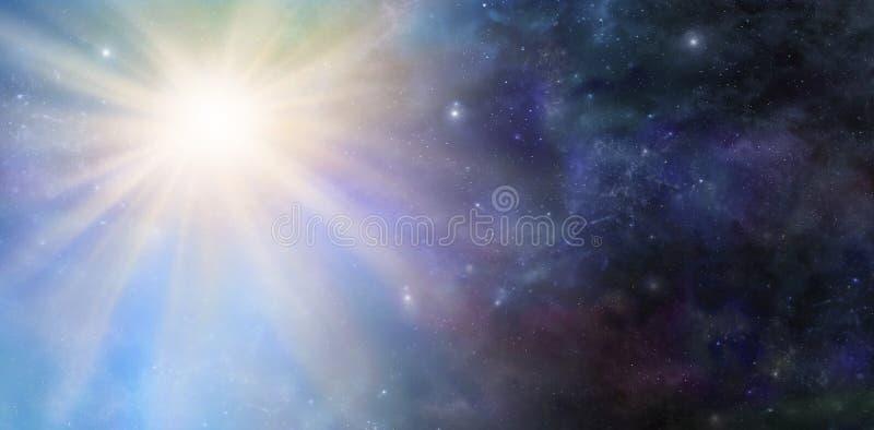 Evento di Big Bang dello spazio profondo fotografie stock