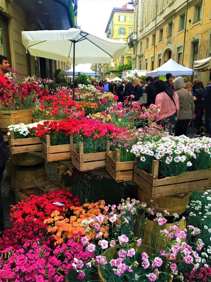 Evento di FLOR nella citt? di Torino, Italia Fiori, colori, bellezza e molla immagini stock libere da diritti