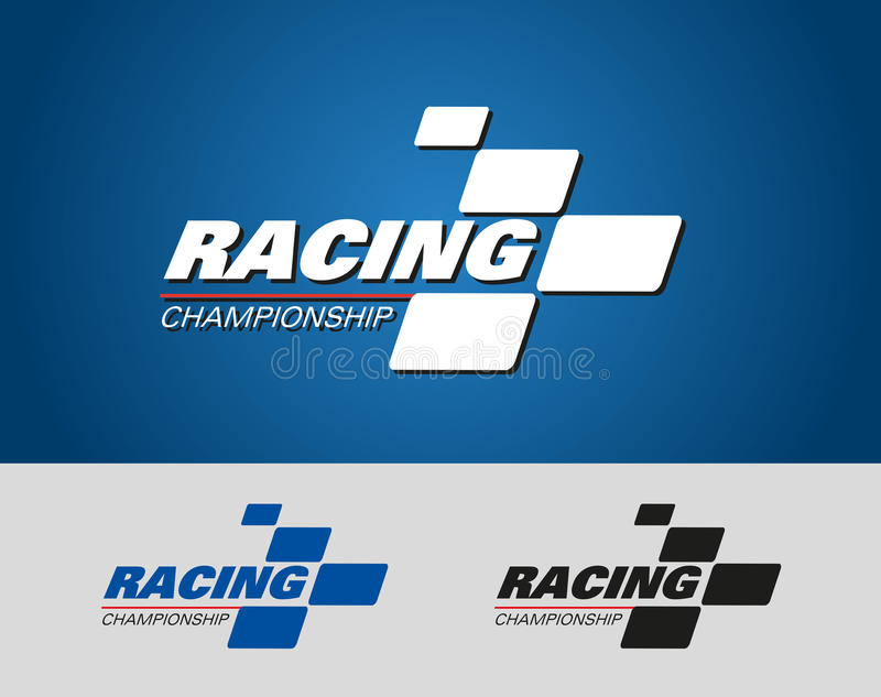 Evento di logo di campionato di corsa immagine stock
