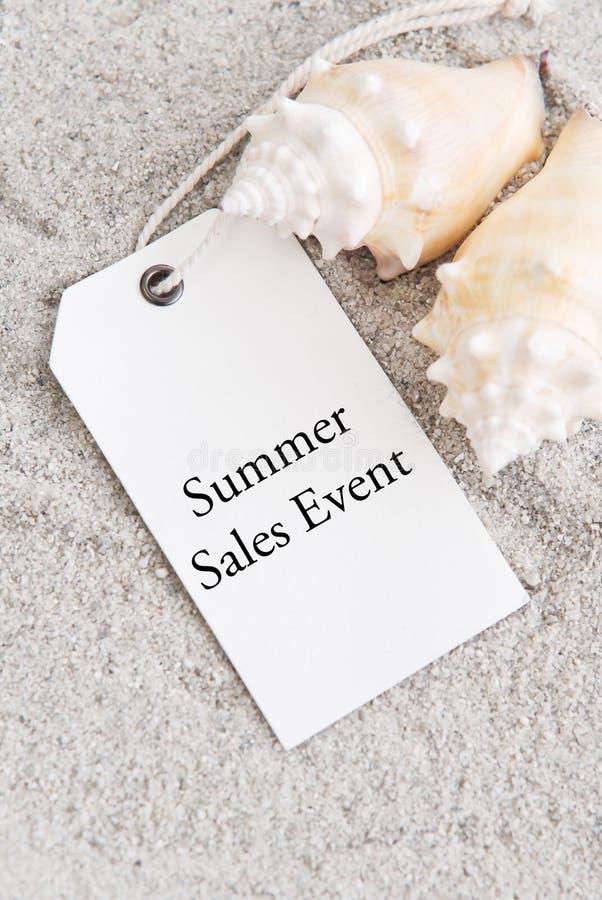 Evento di vendite di estate immagine stock