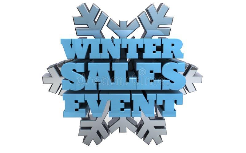 Evento di vendite di inverno - vendita illustrazione di stock