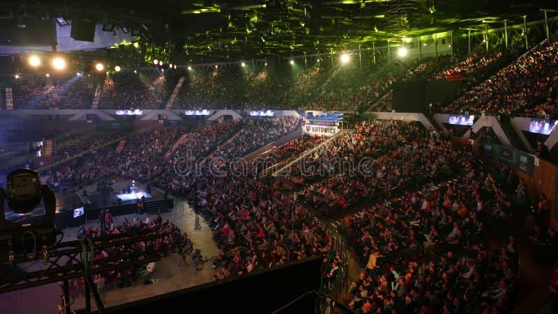 evento do E-esporte Campeonato mundial em Katowice 2017 poland imagem de stock