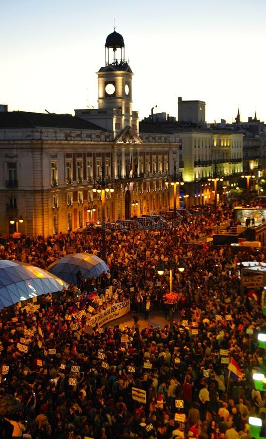 Evento do Madri no quadrado do solenoide imagens de stock