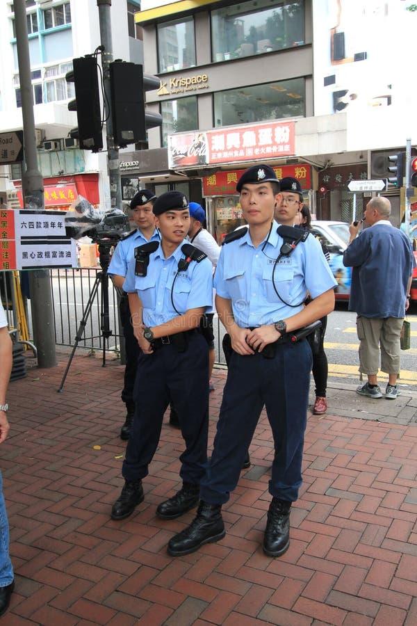 Evento 2015 do março de Hong Kong do 26o aniversário de protestos da Praça de Tiananmen de 1989 fotos de stock