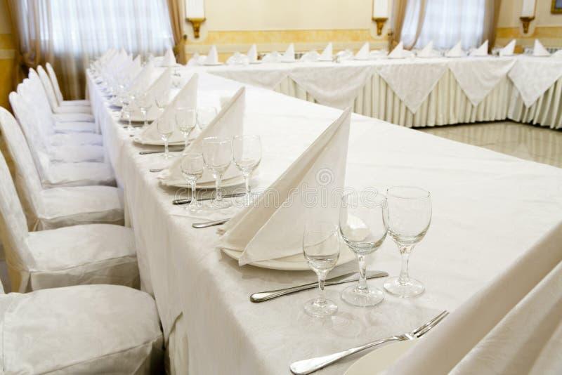 Evento do restaurante Banquete, casamento, celebração foto de stock royalty free