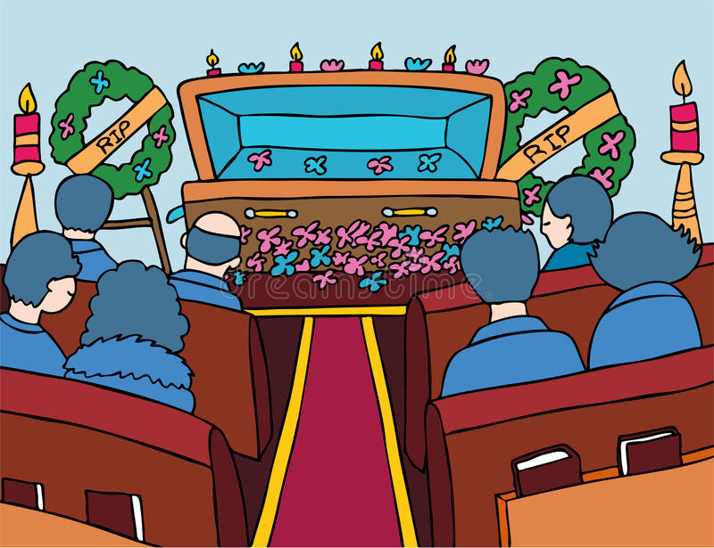 Evento do serviço de funeral ilustração royalty free