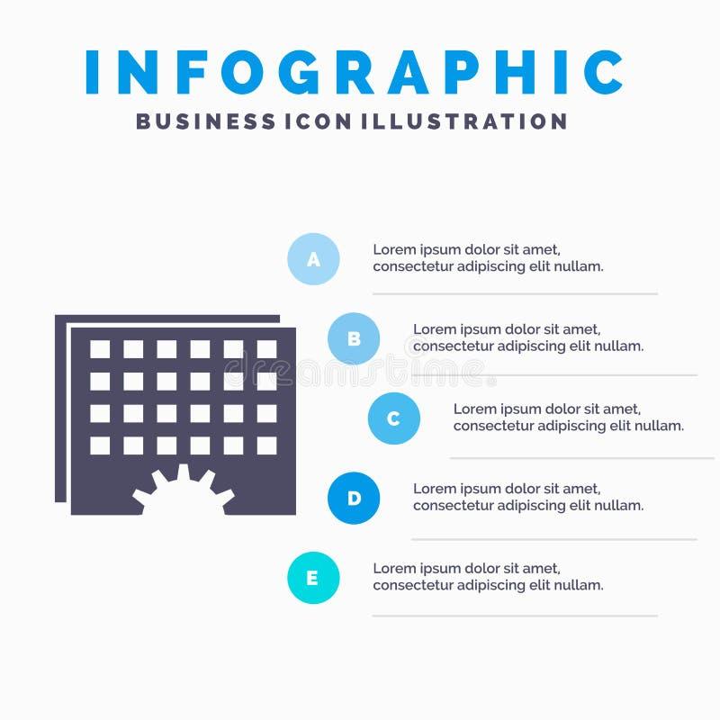 Evento, gestão, processamento, programação, molde cronometrando de Infographics para o Web site e apresentação ?cone cinzento do  ilustração royalty free