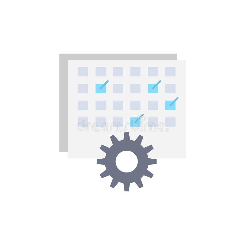 Evento, gestão, processando, programação, vetor liso do ícone da cor do sincronismo ilustração royalty free