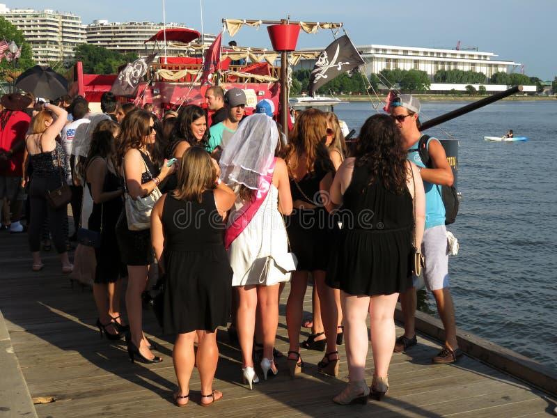 Evento social do barco do partido foto de stock