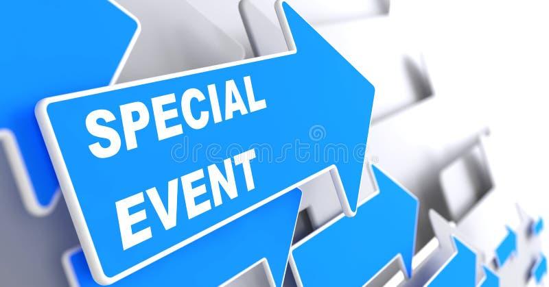 Evento speciale sulla freccia blu. royalty illustrazione gratis