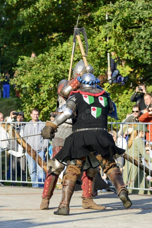 Evento velho dos cavaleiros fotografia de stock royalty free