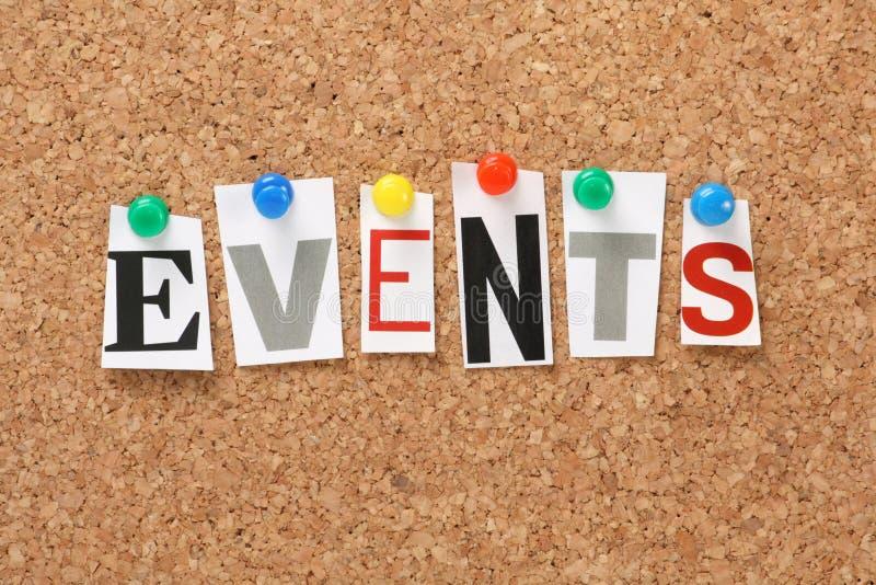 Eventos fotografia de stock