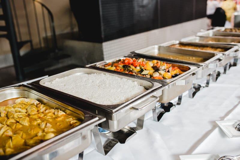 Eventos de la comida fría de la boda del abastecimiento fotografía de archivo