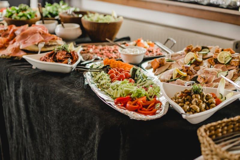 Eventos do bufete do restaurante da restauração foto de stock royalty free
