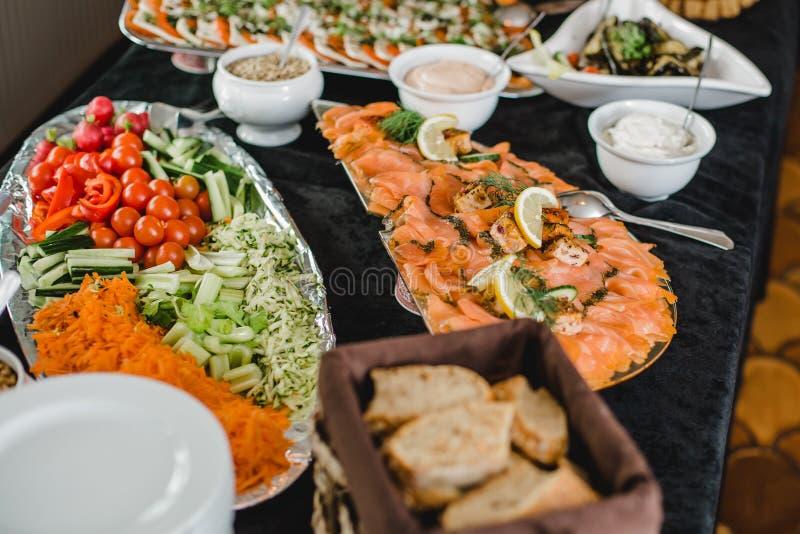 Eventos do bufete do restaurante da restauração fotografia de stock royalty free