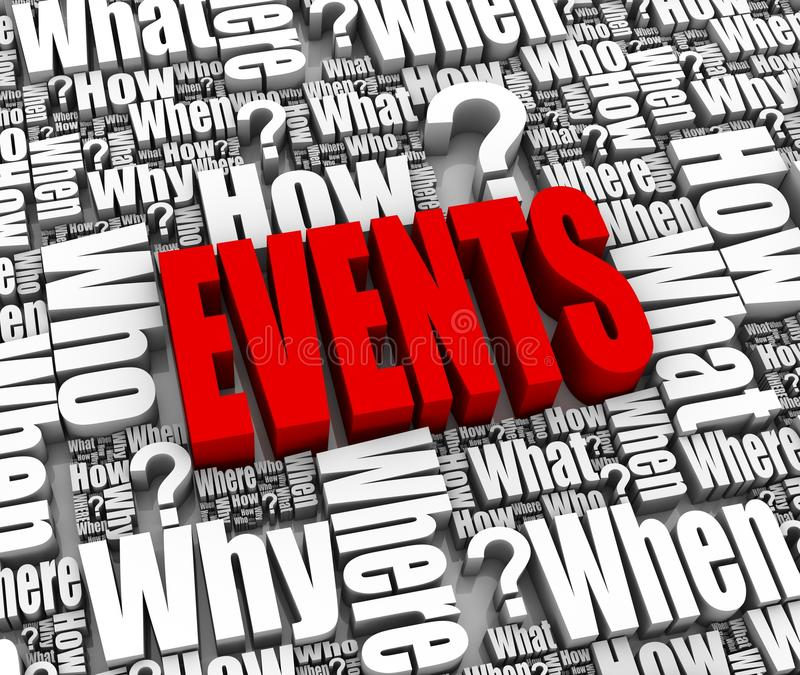Download Events stock illustration. Image of answer, research - 19556805