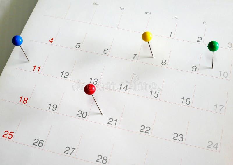 Events calendar stock photo