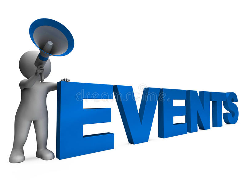 Events Character Means Concert Occasion Events Or Functions. Events Character Meaning Concert Occasion Events Or Functions royalty free illustration