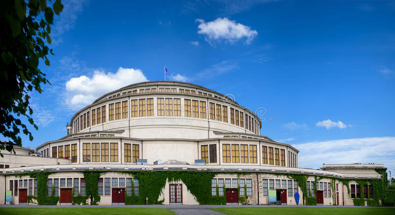 Events Hall, Wroclaw. Hall was built by the Germans during World War II, which hosts the biggest events in Wroclaw royalty free stock images