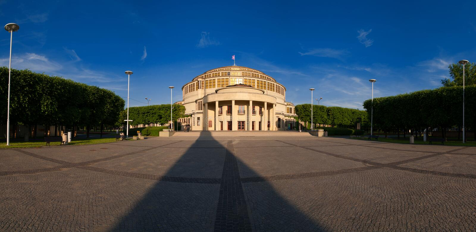 Events Hall - Wroclaw royalty free stock photo