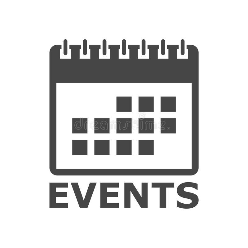 Events icon calendar icon, simple vector icon royalty free illustration