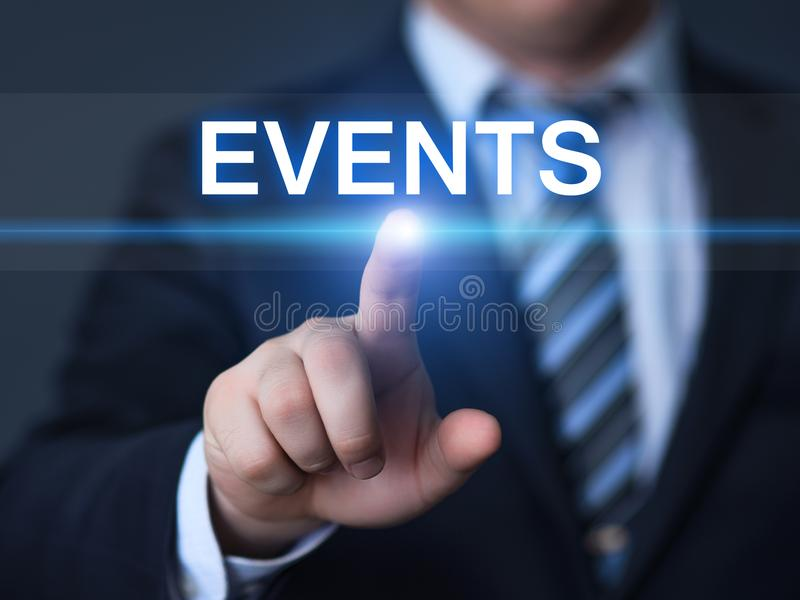 Events Planning Management Business Internet Networking Technology Concept royalty free stock photography