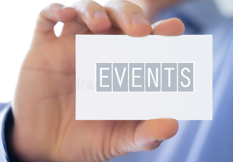 Events. Professional business card concept stock images